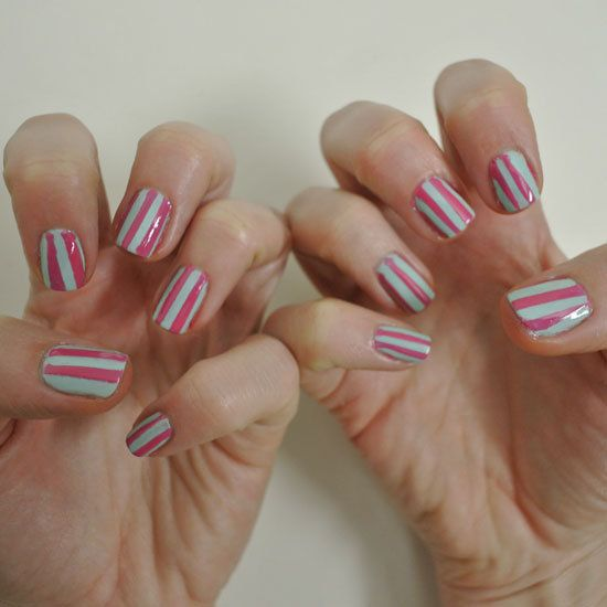 Diy Sticky Tape Manicure Using Nail Polish And Tape Nail Art