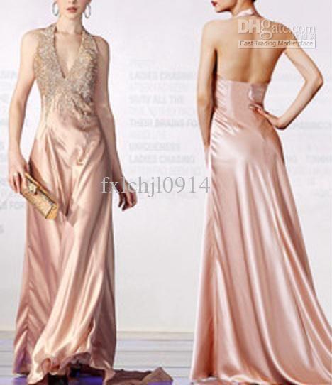 Wholesale Evening Dresses - Buy Luxury Beads Trailing Evening Dresses Sexy V-neck Pegeat Dress, $106.0 | DHgate