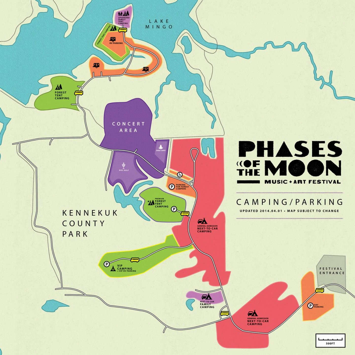 Map - Phases of the Moon Music + Art Festival