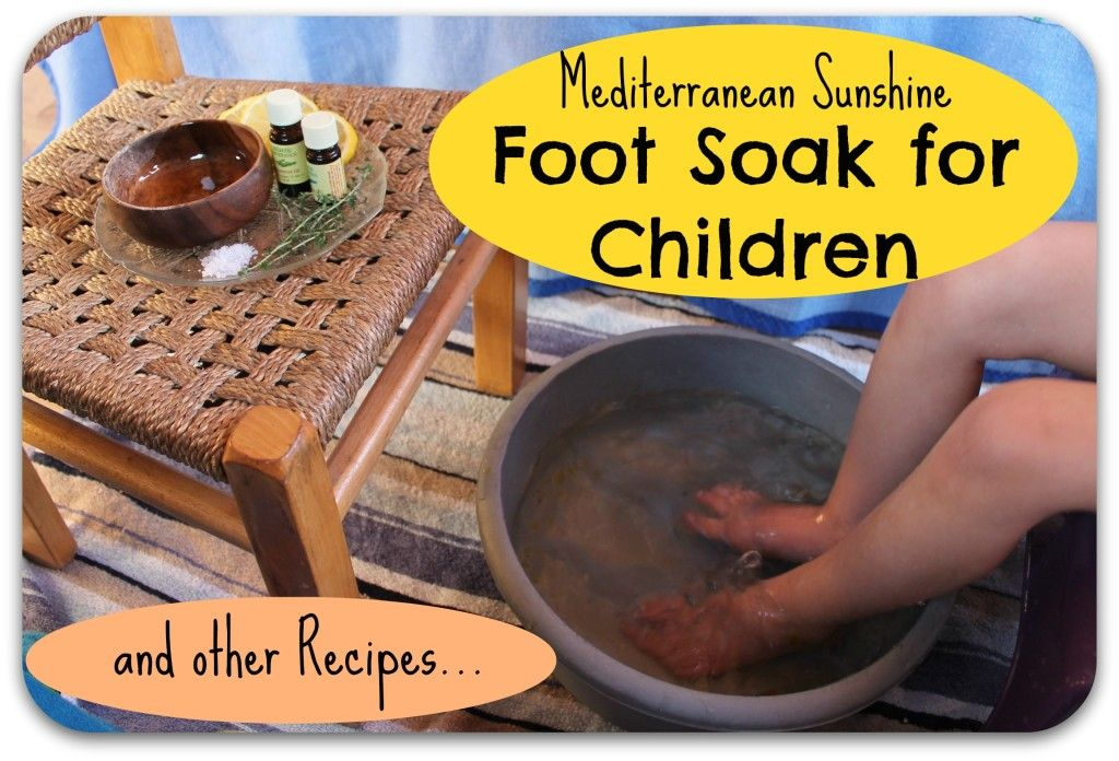 Spa Day At Home For Teens Foot Soaks