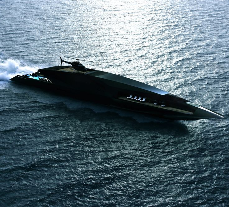 LUXURY YACHT - design and concept - CONCEPT - Black Swan - Super-yacht