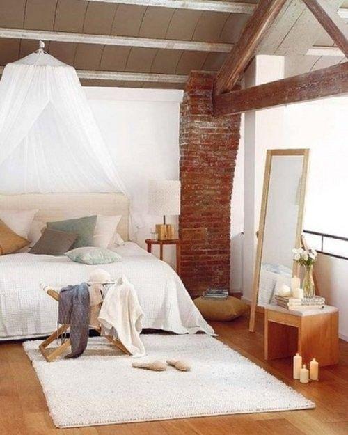 26 spacious loft interiors interiorforlifecom exposed brick and canopy - Brick Canopy Decor