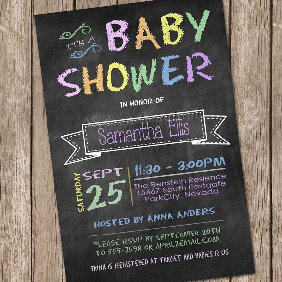 Chalkboard baby shower invitation printable by modernbeautiful chalkboard baby shower invitation printable by modernbeautiful 1200 filmwisefo