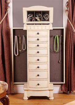 Ordinaire Antique Beige Floor Standing Jewelry Box Cabinet With Eight Drawers. I Need  One Of These:)