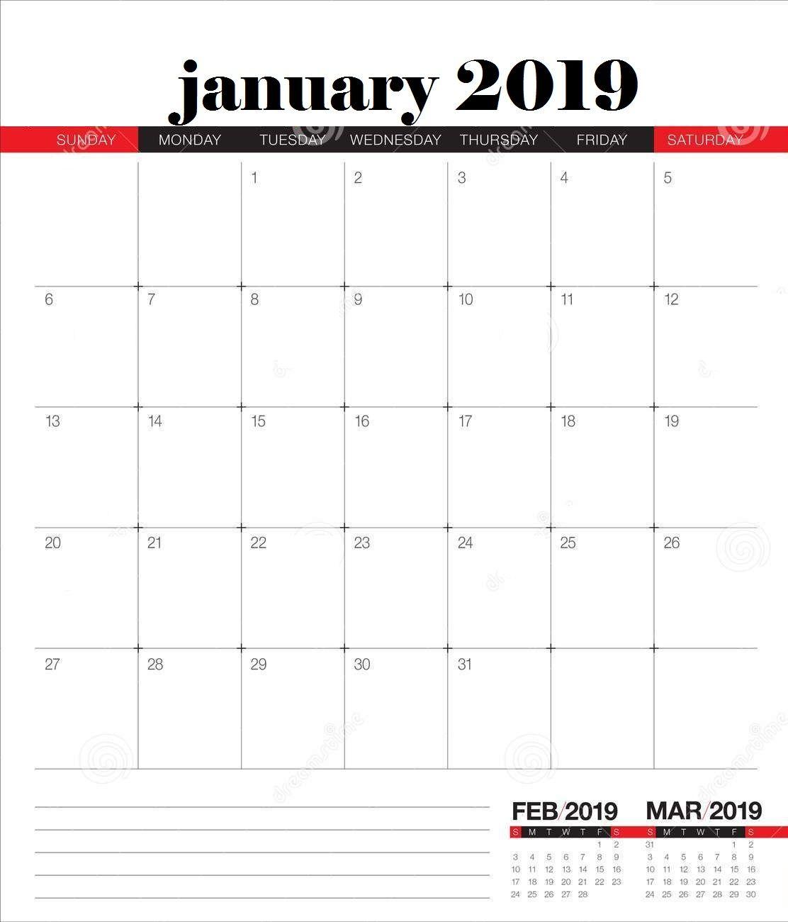 January 2019 Desk Calendar Template Desk Calendar Template Desk