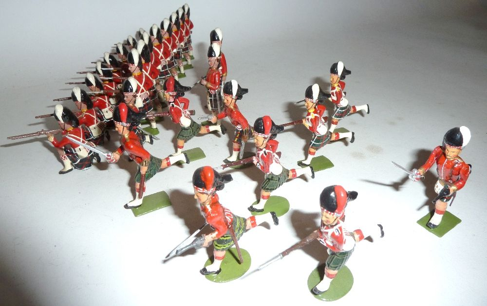 Lot 288 Britains neatly repainted or converted Scottish