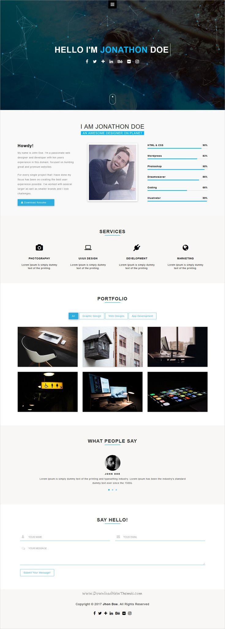 Jorel  Personal Portfolio  Vcard  Cv  Resume Template  Cv