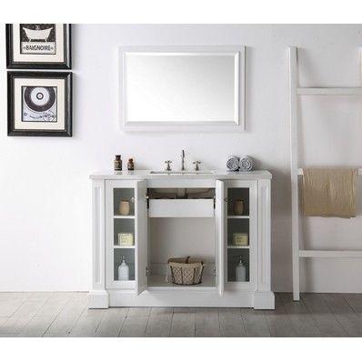 Best Alexis 48 Transitional Single Sink Bathroom Vanity In 400 x 300