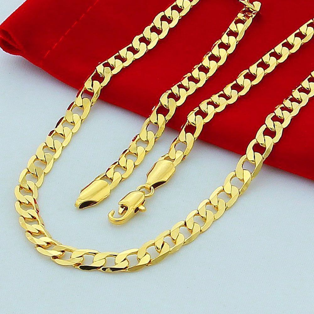 inches jewelry cuban curb chain menus necklace jewelry