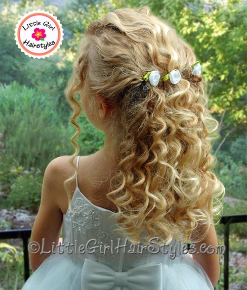 Phenomenal 1000 Images About Flower Girl Hair On Pinterest Flower Girl Hairstyle Inspiration Daily Dogsangcom