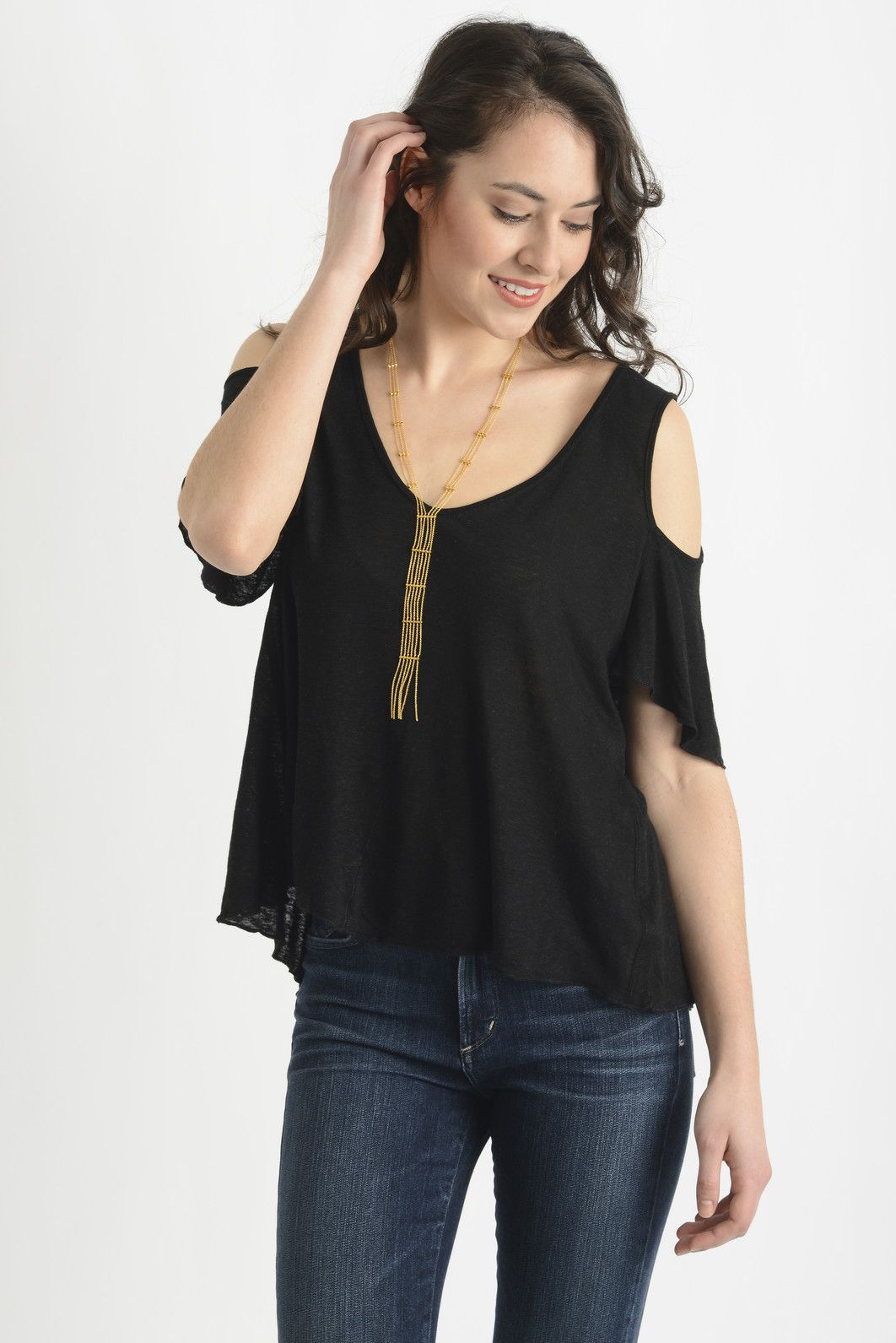 e1e84f12793a7f Free People Bittersweet Cold Shoulder Top