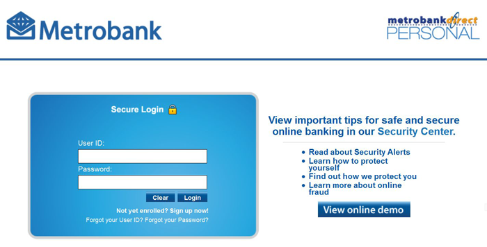 how to pay sss online metrobank
