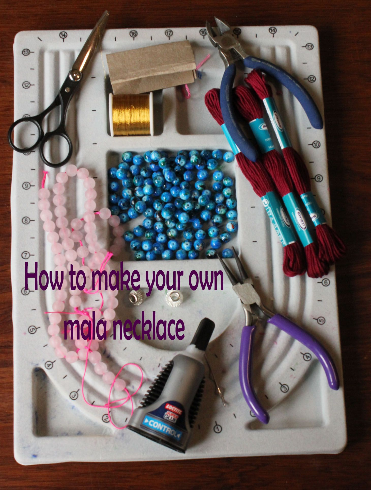 how to make your own mala necklace imagens)