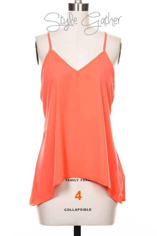 Cutout Back Coral Top, Fashion, Style, Sale