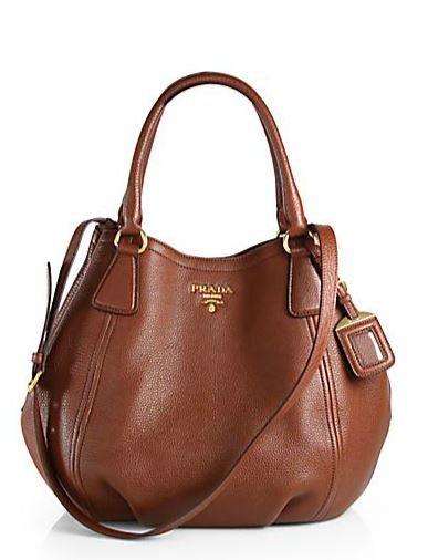 94f3a441a00 Cartera Mujer · Prada Daino Convertible Satchel in marrone-brown Bolsos De  Cuero