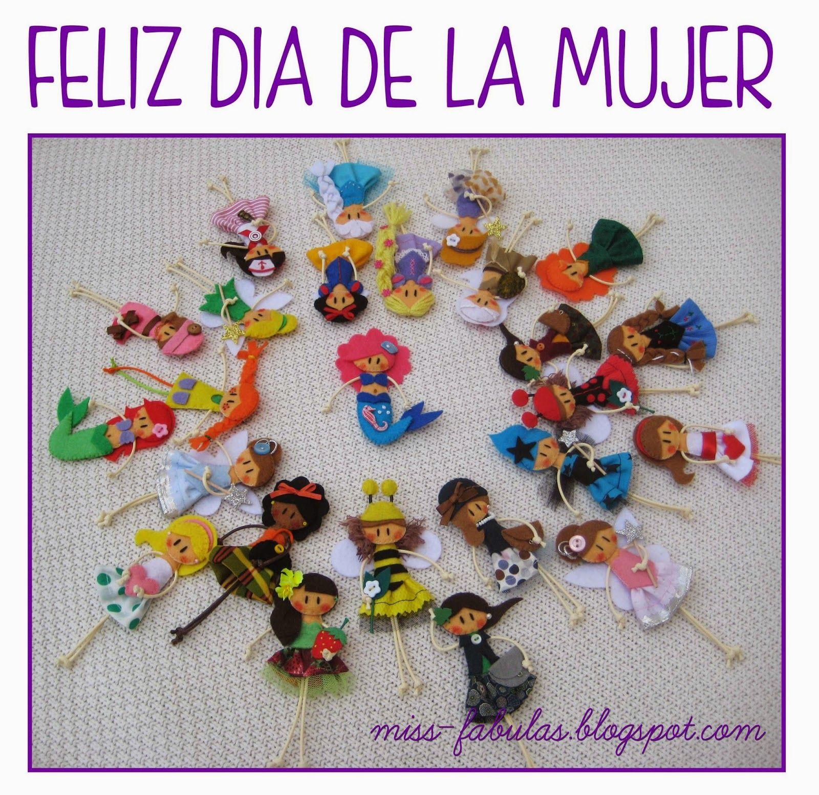 Dia De La Mujer Trabajadora Felt Dolls Tela Souvenirs Ladies