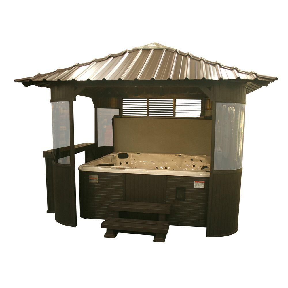 Coffee Shop Furniture Hot Tub: Canadian Spa Company Fraser 10 Ft. Synthetic Coffee Gazebo