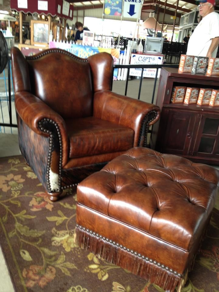Love this cowhide western furniture store for some - Western couches living room furniture ...