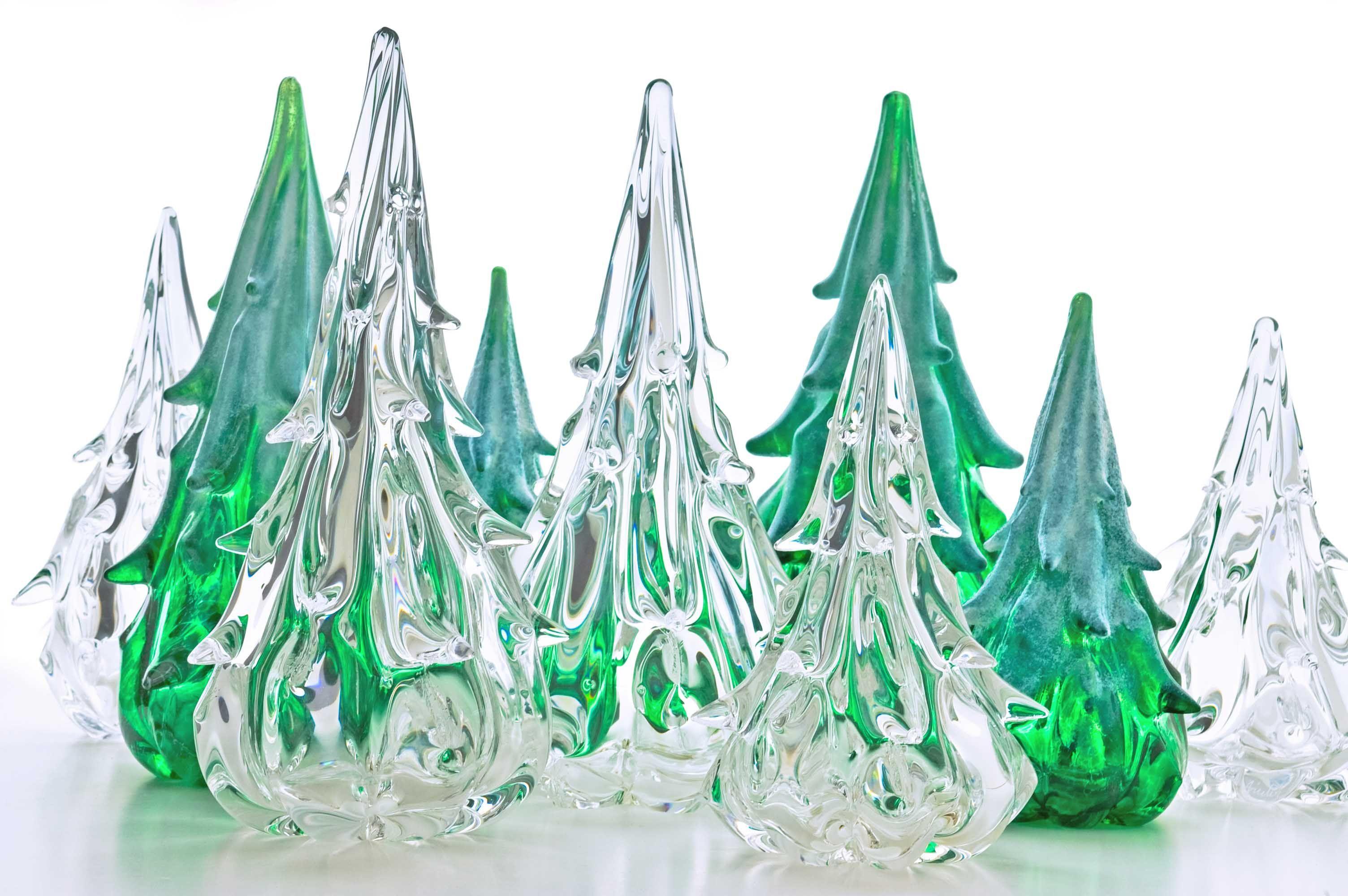 Glass Christmas Trees Tree Sculpture Glass Art Sculpture Glass Art