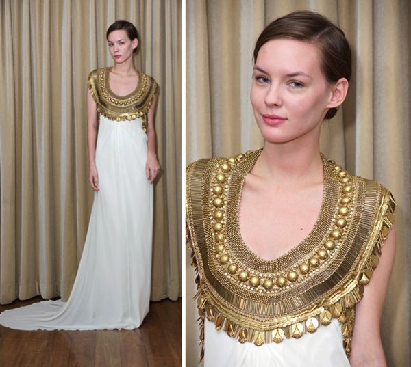 Temperley London Egyptian Neckline Bridal Dress Egyptian