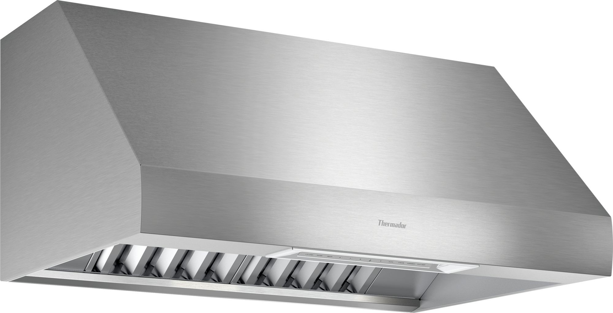 Thermador Ph36gws 36 Inch Wall Mount Hood With Led Light Infrared Heat Lamps Automatic Mode Check Filter Reminder Light And Delay Shut Off Thermador Wall Mount Range Hood Heat Lamps