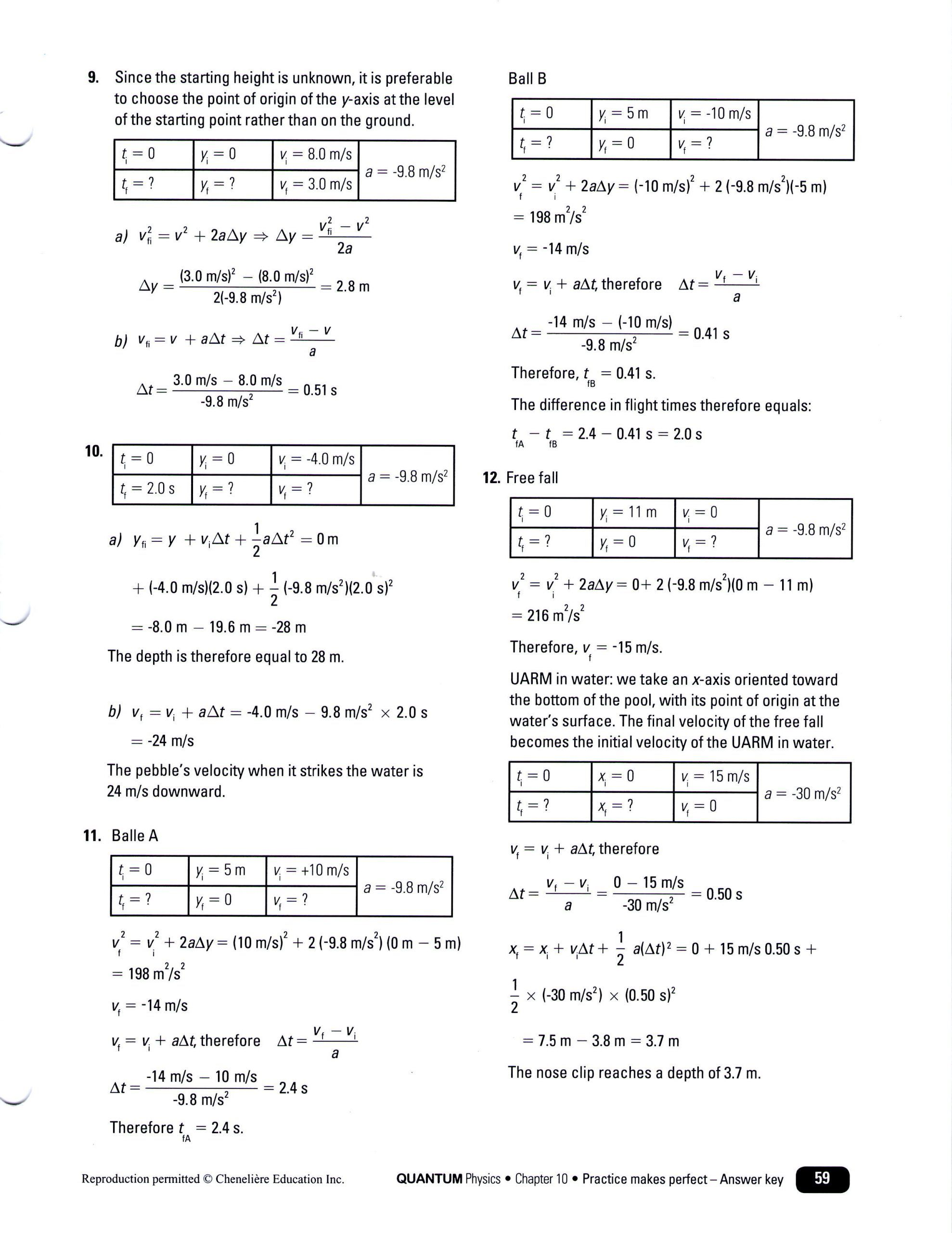 Kinematics Worksheet With Answers Word Problem Worksheets Question Paper Fall Worksheets [ 2560 x 1978 Pixel ]