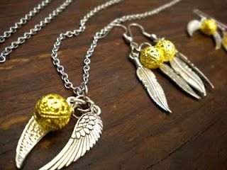 golden snitch necklace ... DIY