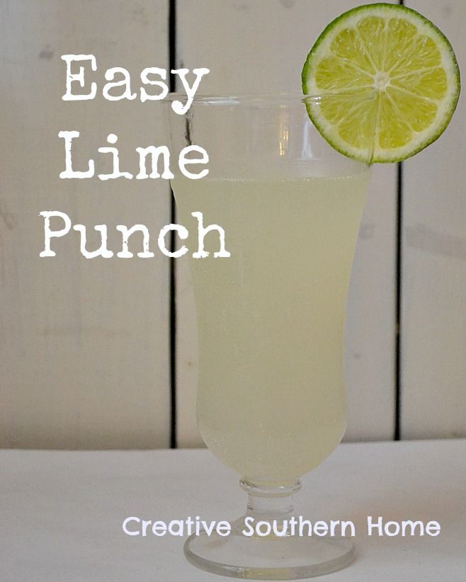 Creative Southern Home: Easy Lime Punch