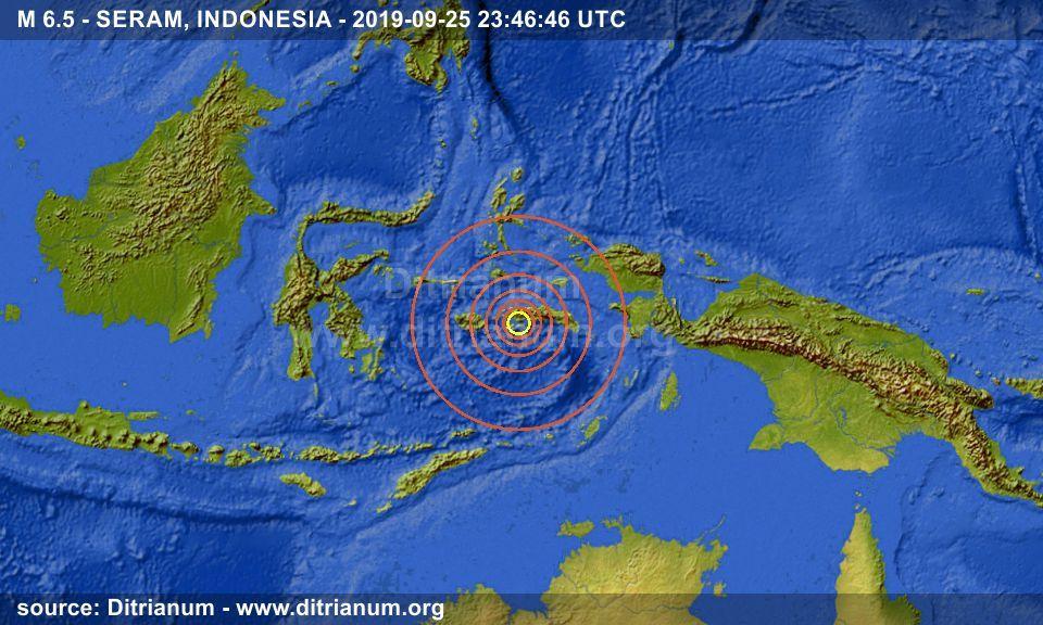 Earthquake M 6 5 Seram Indonesia 2019 09 25 23 46 46 Utc