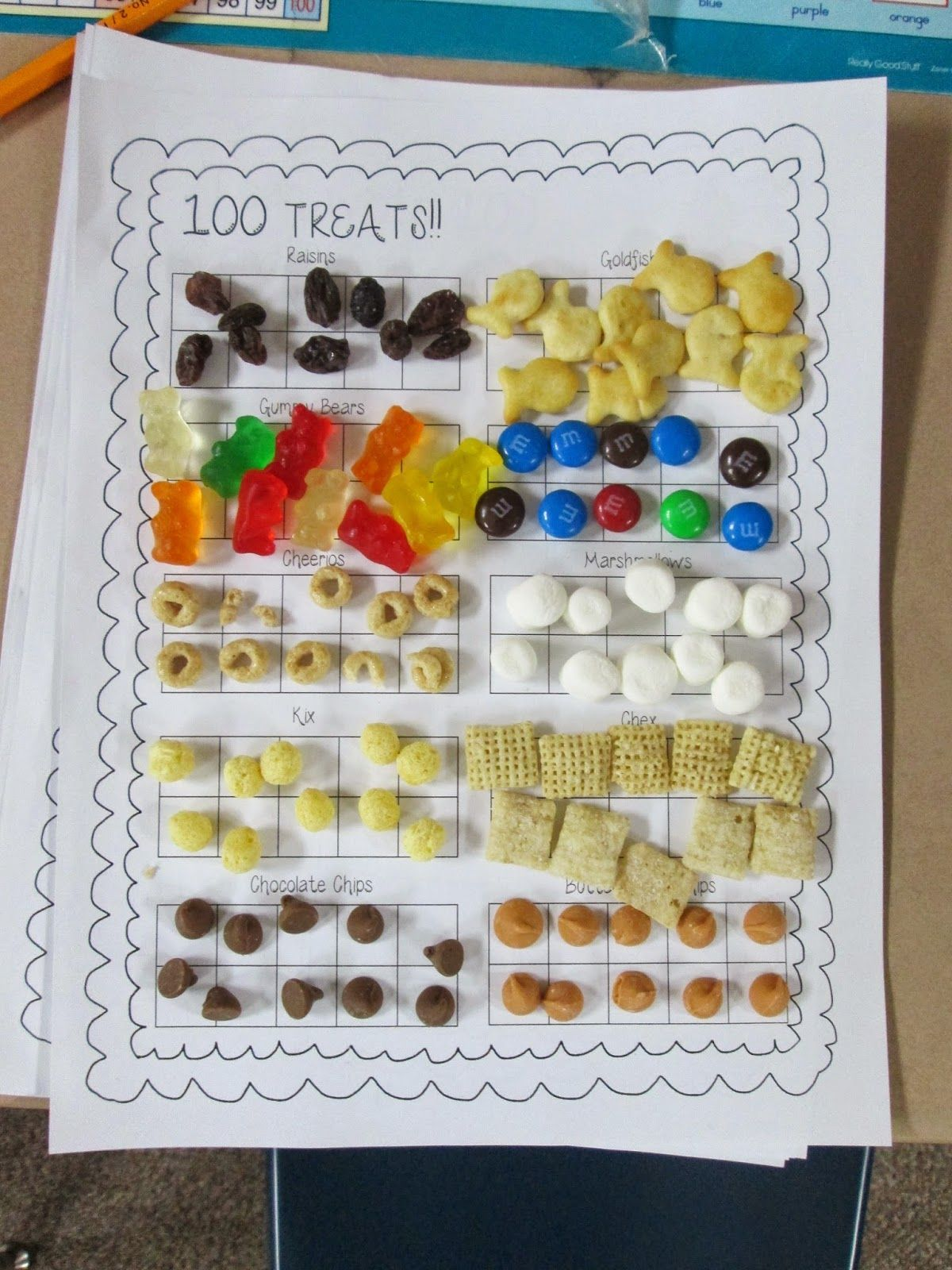 100 Treats For The 100th Day Free Printable In Blog Post