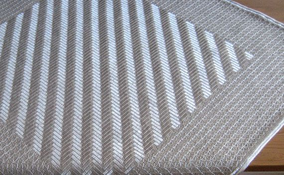 Authentic handmade embroidery linen white silk motif table cloth home decoration $50