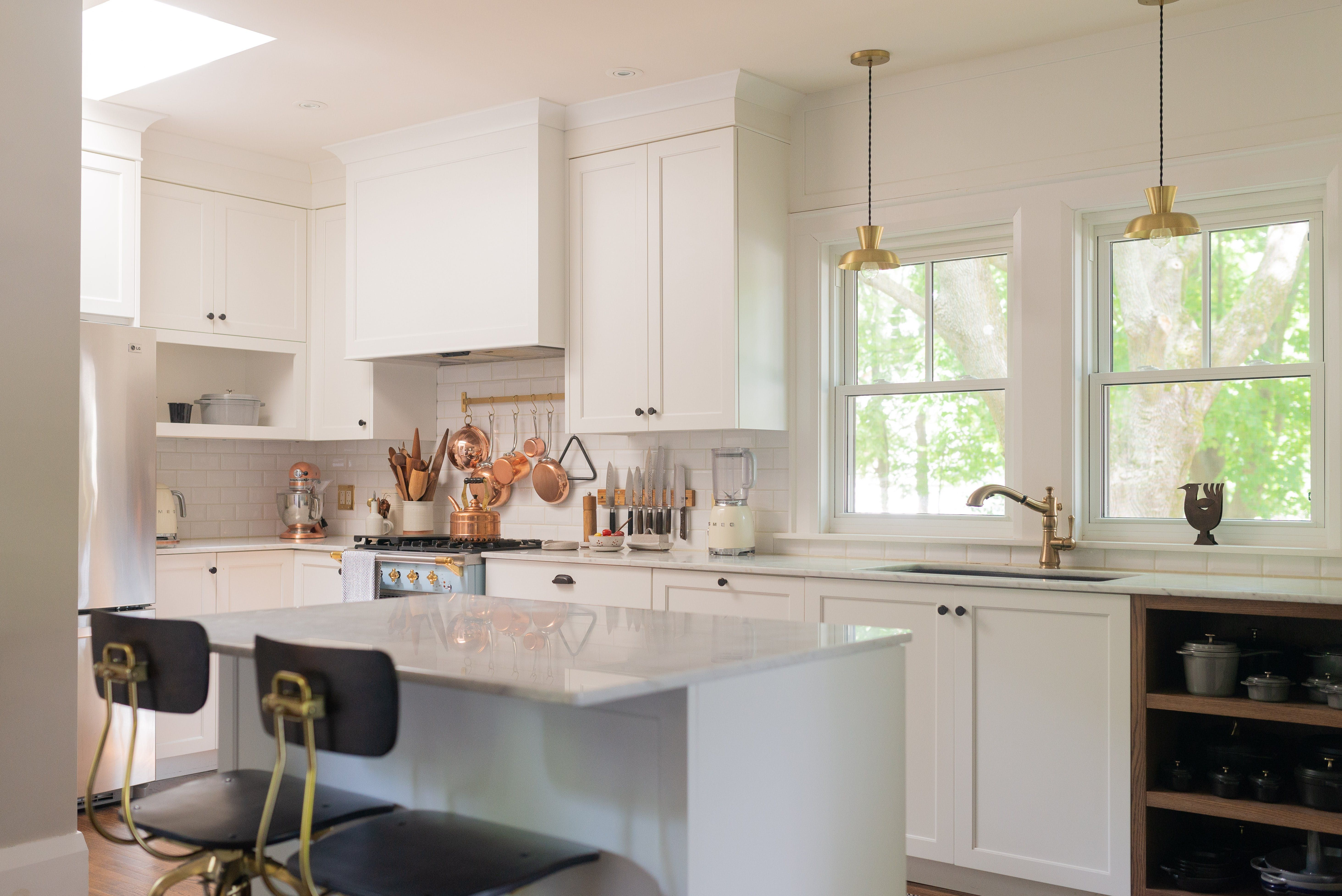 A Food Blogger S Ontario Home Is Minimal Monochromatic And Marvelous Kitchen Soffit Above Kitchen Cabinets Dining Furniture Makeover