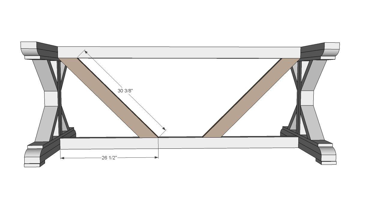 Build A Fancy X Farmhouse Table
