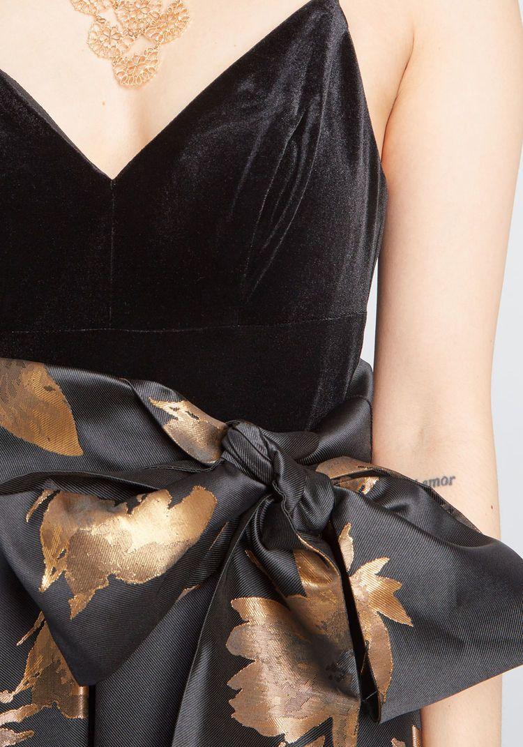 e6513cad53 Eliza J Stately Greatness Floral Maxi Dress Black Gold