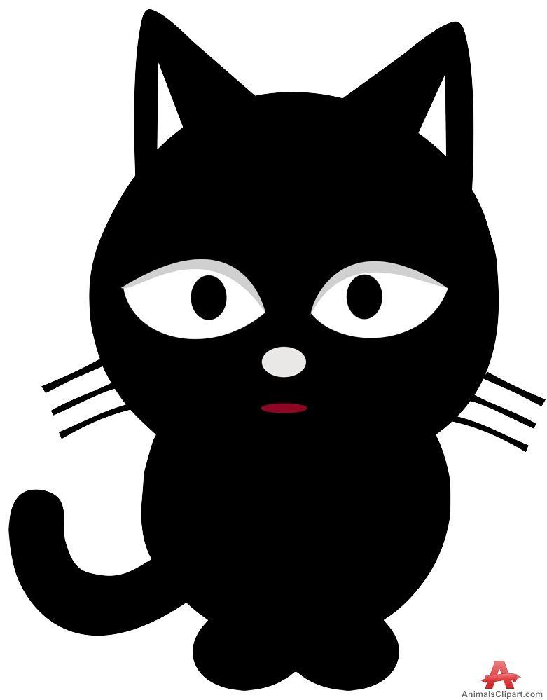 Black Cat Clip Art Free : black, Black, Clipart,, Cats,, Clipart, White