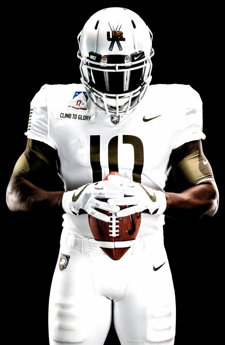 2017 Army Black Knights Alternative Uniform For Army Navy Game Good In 2020 Navy Football Uniforms Army Football College Football Uniforms