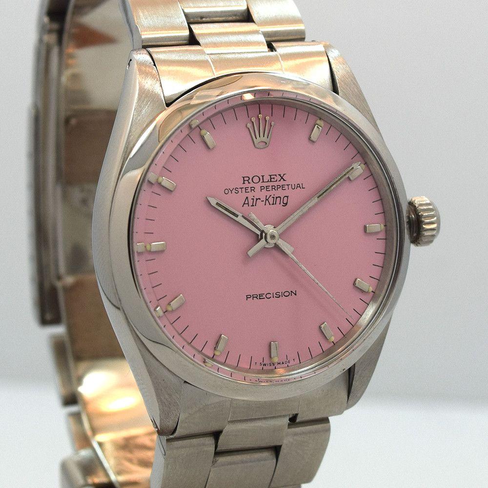 1966 Vintage Rolex Air King Ref. 5500 Custom Pink Dial