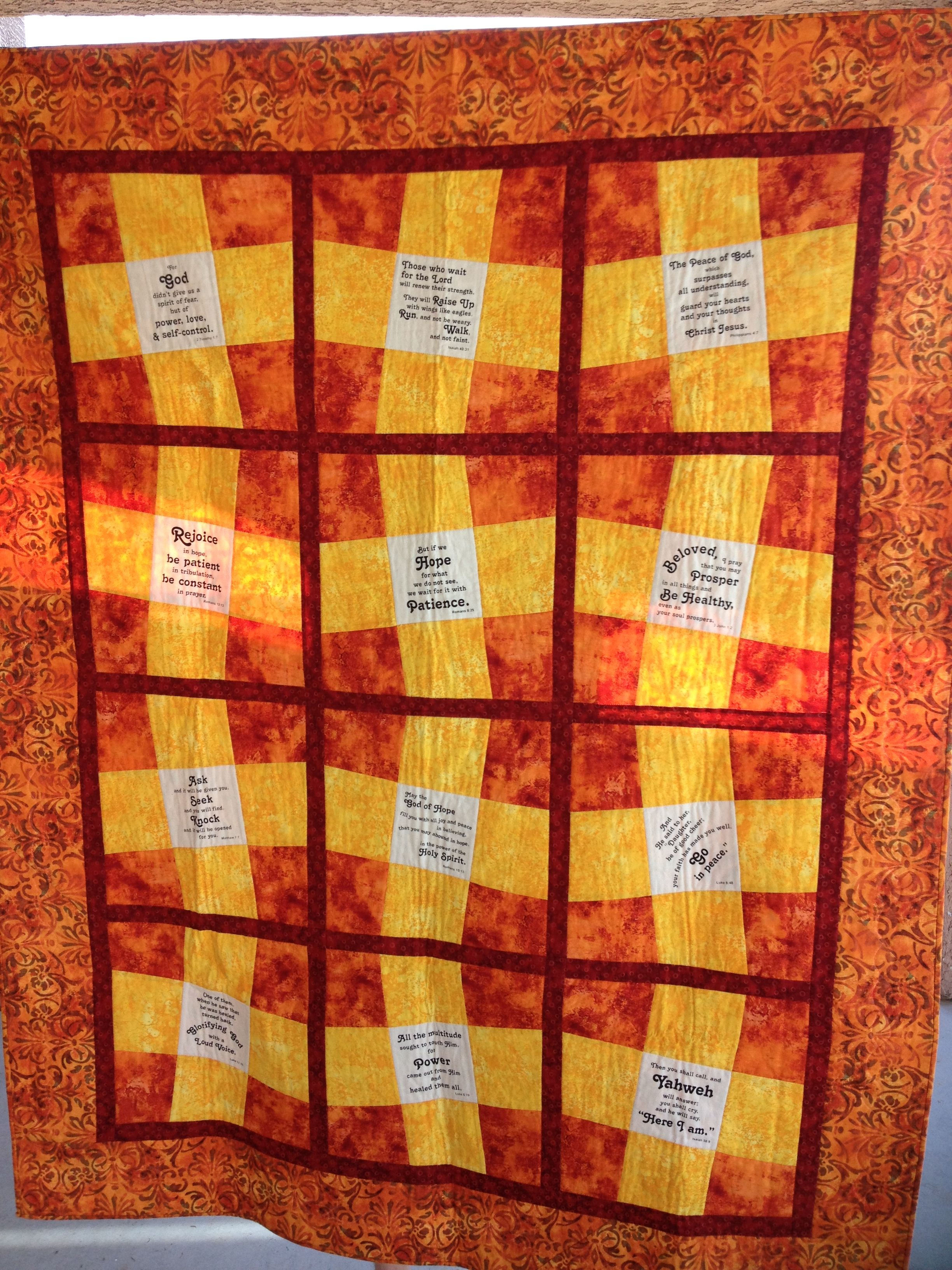 African Prayer Quilt for my Nor Cal Momma.
