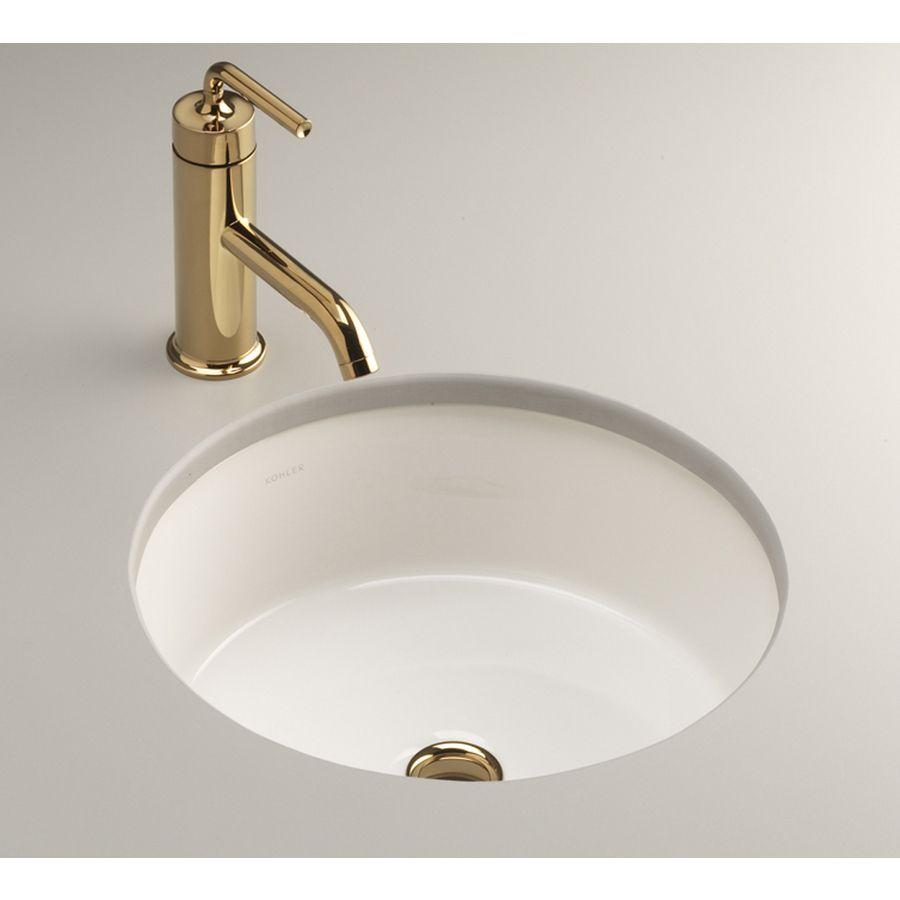 94 Kohler Verticyl White Undermount Round Bathroom Sink With Overflow At Lowes