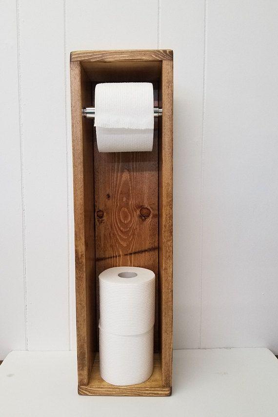 Toilet Paper Holder Stand Bathroom Storage Organizer Projetos De Carpintaria Faceis Porta Papel Higienico Projetos De Carpintaria