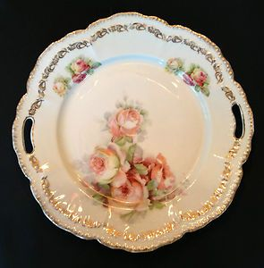 Antique Sch Bavaria Germany Pink Roses
