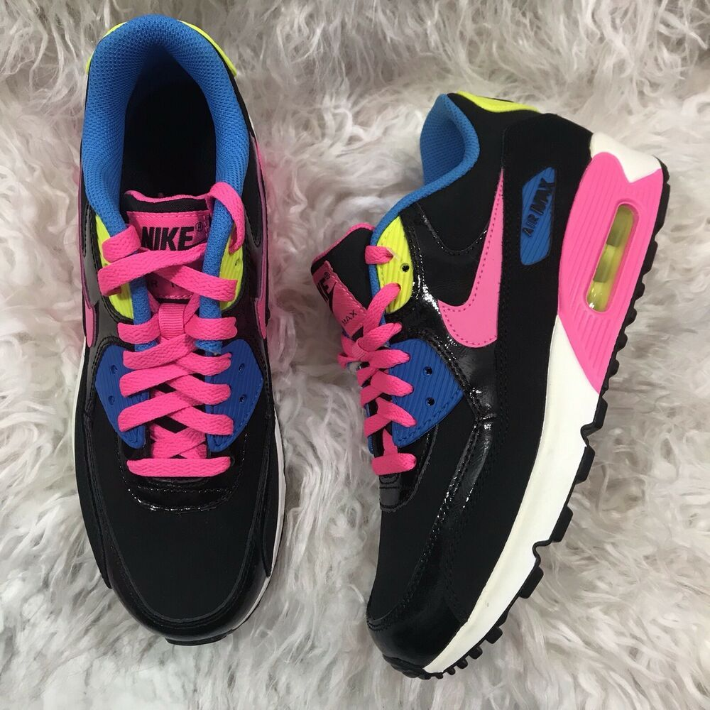 Trapianto Meccanica Eredità  Womens NIKE Air Max 90 Ltr Black Neon Pink Yellow Blue Size 7.5 Youth Size  6 - Nike Airs (This is a link to Amazon … | Nike air max, Nike air, Nike  air max 90 black