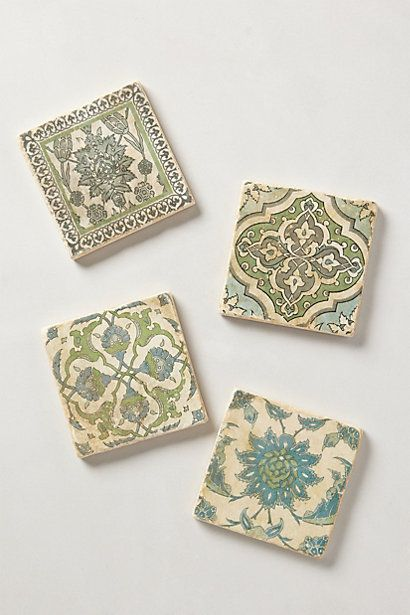 Botticino Marble Coasters | Marble coasters, Anthropologie and Marbles