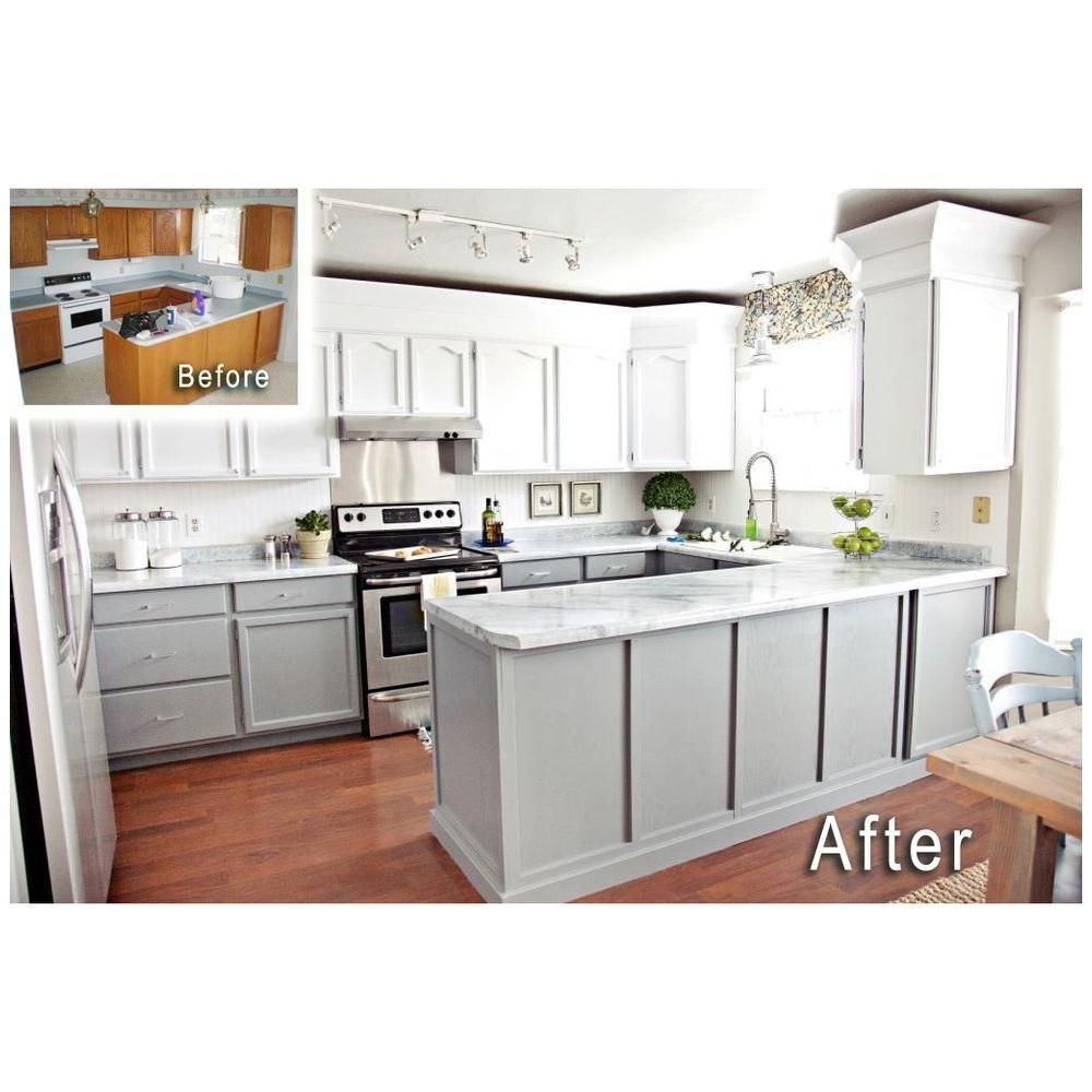 1 25 Qt White Diamond Countertop Paint Kit Fg Gi Wht Di The Home Depot Kitchen Inspiration Design Kitchen Remodel Small Home Decor