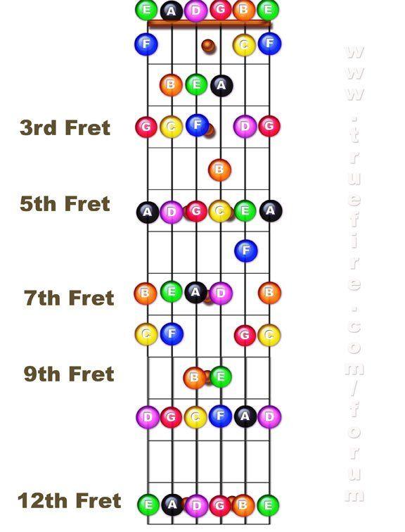 Learning Order Learn Guitar Guitar Fretboard Acoustic Guitar Strings