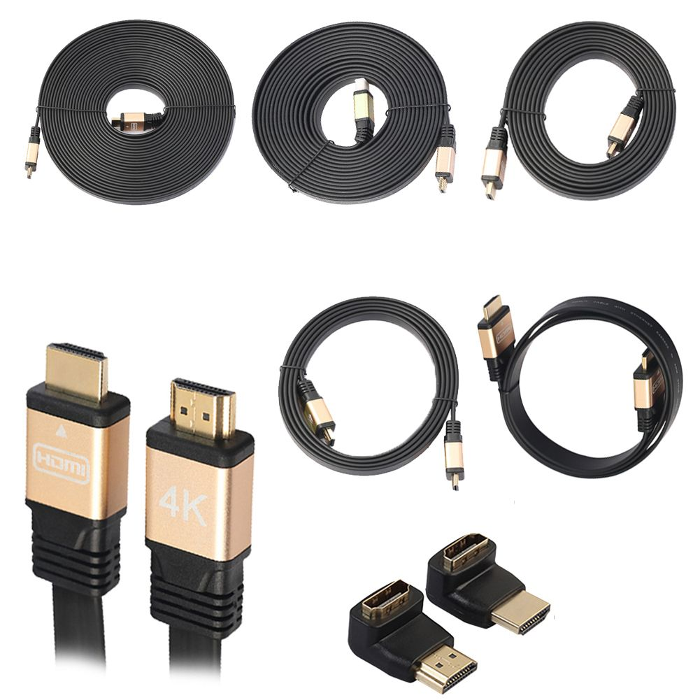 1m 1 8m 3m 5m 10m Ultra High Speed Male To Male Hdmi V2 0 2160p 4k Cable With 90 270 Degrees Adapter For Computers Apple Tv Hdmi Hdmi Cord High Speed