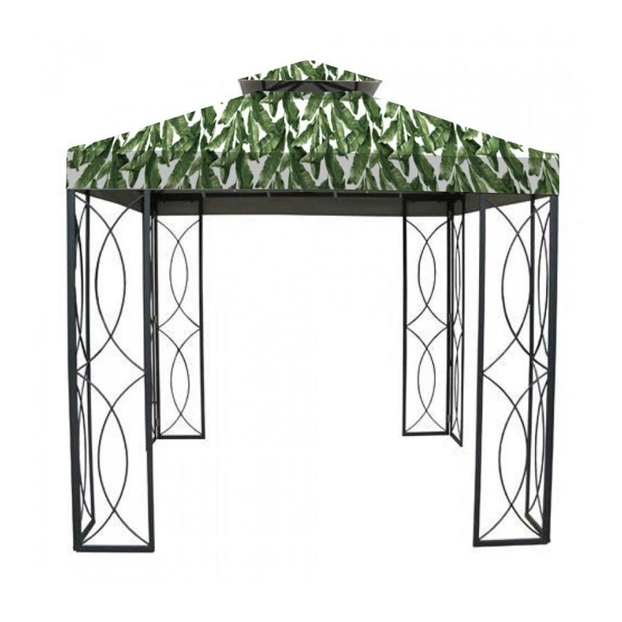 Garden Winds Replacement Canopy Top Cover For Garden Treasures 8 X 8 Gazebo Palm Lcm542palm In 2020 Gazebo Replacement Canopy Canopy