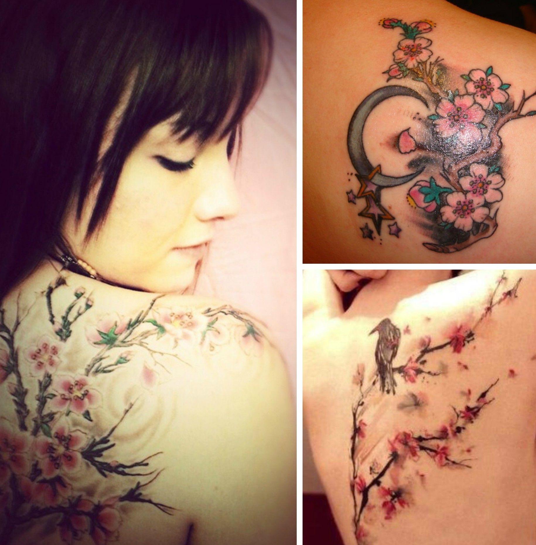 tatouage fleurs de cerisier dos tattoo tatouage fleur. Black Bedroom Furniture Sets. Home Design Ideas