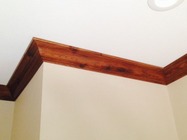 Rustic Hickory Crown Molding With
