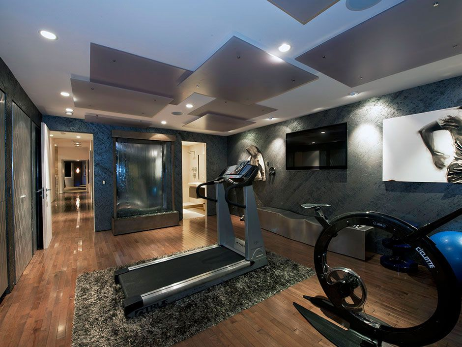 2010 esquire house on sunset strip 43 home ideas for Home gym interior design